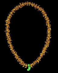 A Gold with Jade Necklace
