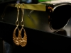 14kt hammered gold drop earrings; they even look good just on sunglasses!