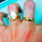 Another example of how to mix and match rings to glitz up an outfit!