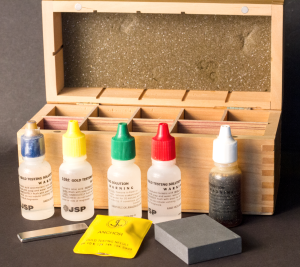 No hallmark? No problem! A jewelry will most likely use a kit similar to this to test the gold content.