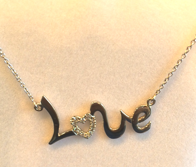 14kt Love Necklace