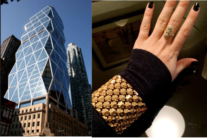 Hearst Tower and Gold Bracelet