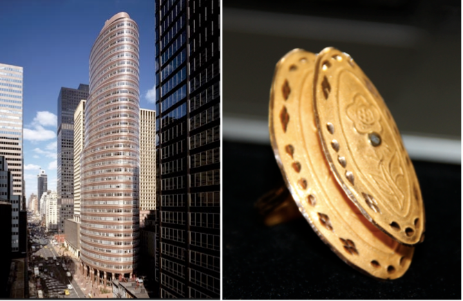 Lipstick Building and 22kt Ring