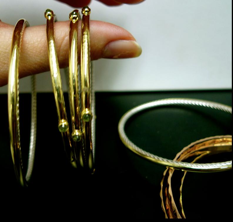 David Yurman 18kt Gold Bangles