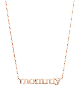 18kt Rose Gold Necklace on a delicate chain, also available at Barneys.