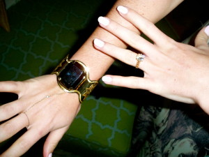 On my other hand, I chose to wear this 18kt gold vintage cuff with a large onyx center stone.
