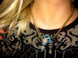 Gorgeous Victorian necklace worn by GemGossip