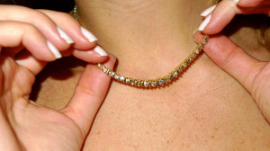 Gold & Diamond Tennis Necklace- Perfect for Margot's character.