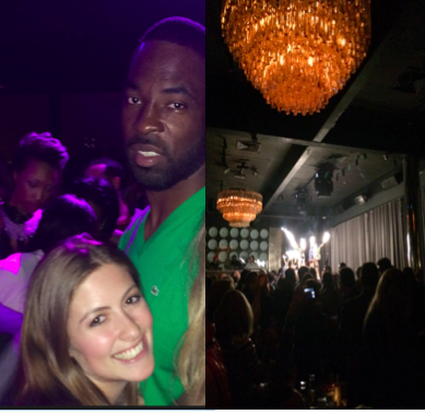 Giants player Justin Tuck attended the event, along with many other players from his team.