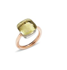 18kt with green quartz