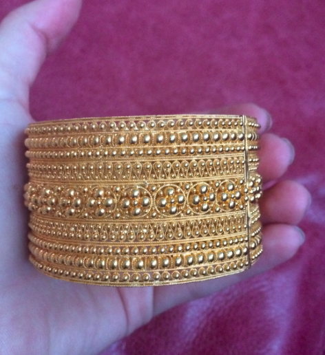 22kt gold vintage cuff