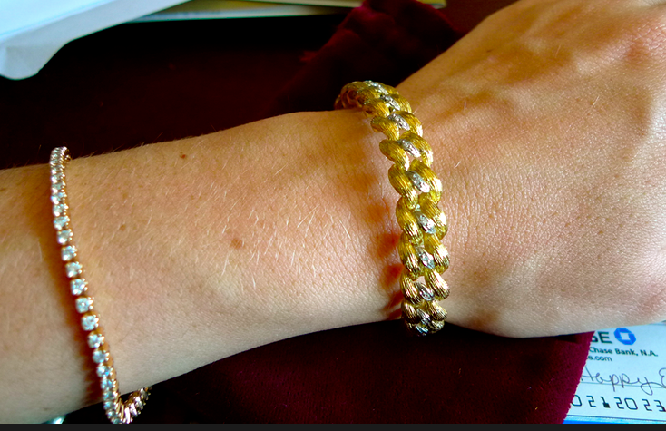 braided gold bracelet