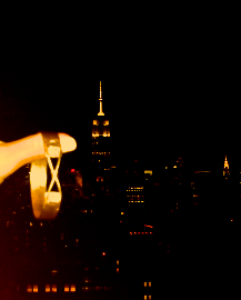 Stuck in NYC with not a care in the world as long as it includes this view.   A 22kt Yossi Hariri Bangle Bracelet paired with the Empire State building on a clear, beautiful Manhattan evening.