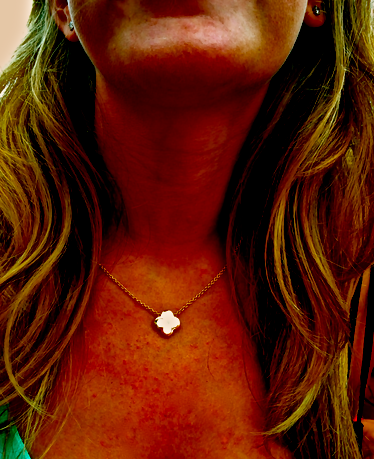 While out east, this 18kt Van Cleef & Arpels Alhambra Necklace was worn at the Sloppy Tuna in Montauk.  Mother of pearl is great to wear at the beach yet still holds its timeless elegance