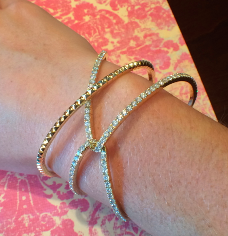 This Marli cuff bracelet was a favorite of mine mainly due to its simplicity and wear-ability.  I can picture it being worn for a special occasion or even just with jeans and a t-shirt; this is always key when picking out essential jewelry pieces.