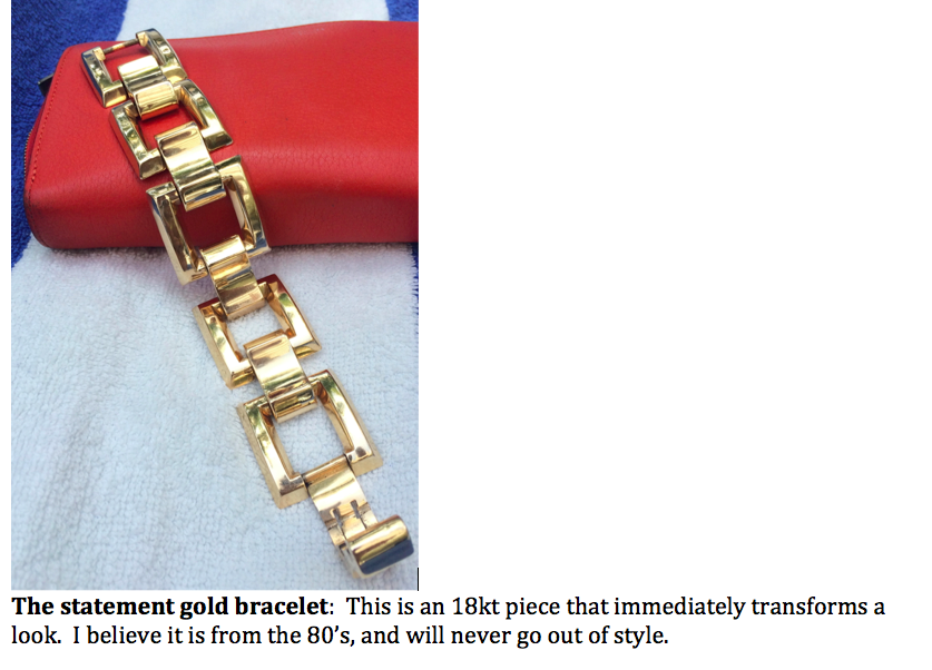 Statement vintage gold bracelet